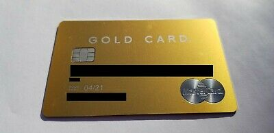 Mastercard Luxury Gold Card - 24K Gold-Plated - Metal Card