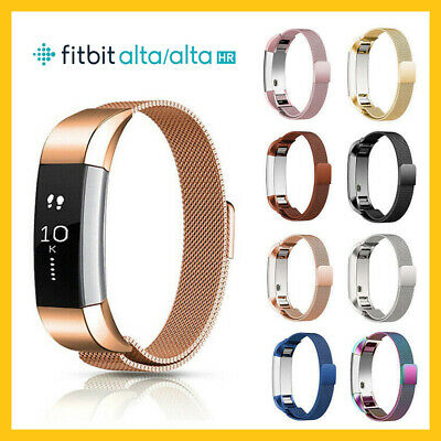 Strap For Fitbit Alta / Alta HR Magnetic Milanese Stainless Steel Watch Band