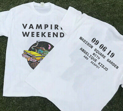 Hot New VAMPIRE WEEKEND Sold Out 09 06 19 Madison Squere Garden T-Shirt S-3XL