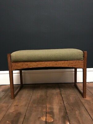 Antique / Vintage Piano Stool - Green cushion, Teak Wooden Frame