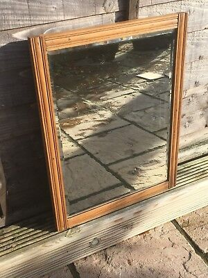Lovely Rustic Country Antique Pine Wall Mirror