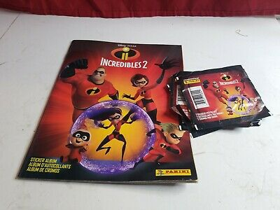 Incredibles 2 Panini sticker album with 5 sticker packs