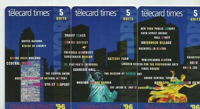 Telecard Times 3 Puzzle  Phone Cards - 1996