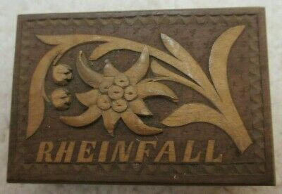 'Rheinfall' BLACK FOREST SMALL CARVED STAMP BOX