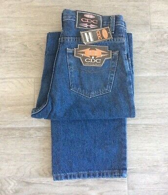 Boys Cdc Loose Fit Jeans Blue Denim Style D615 Zip Fly Size W28 - Age 14-15 Yrs
