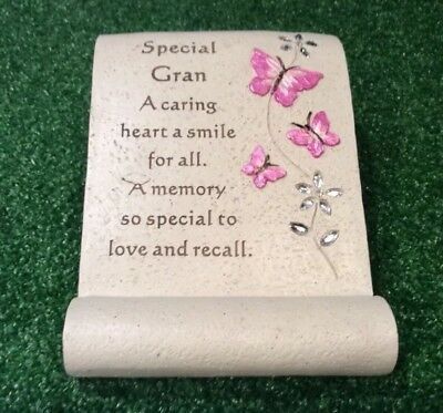 Special Gran Butterfly Scroll Ornament, Graveside Memorial Remembrance Cemetery
