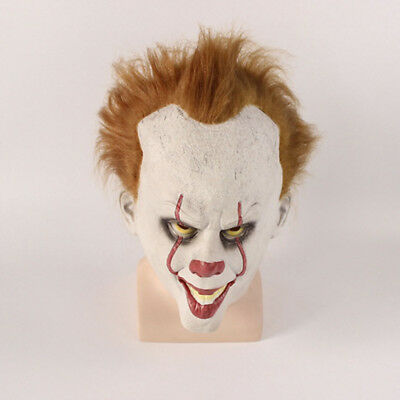 Cosplay Halloween Scary Mask Costume Movie Stephen King's IT Clown Pennywise