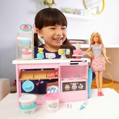 Barbie Cake Decorating Playset And Doll Girls Fashion Set TOY Gift NEW