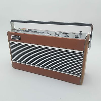 Vintage 1980's Roberts RCS80 AM/FM Synthesised Radio [Tan Brown] Working