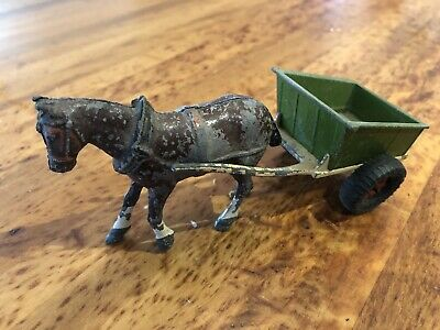 Britains Ltd London Antique Die Cast Farm Horse And Cart