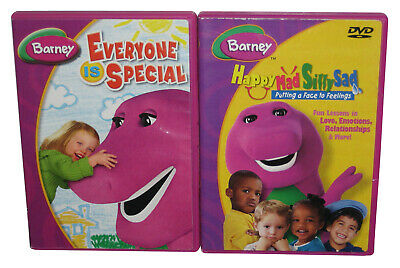 Barney The Dinosaur DVD Lot - (Happy Mad Silly Sad & Everyone Is Special)