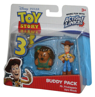 Disney Toy Story 3 Action Links Mr. Pricklepants & Hero Woody Buddy Figure 2Pack