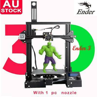 Offical Creality Ender 3 3D Printer + Borosilicate Build Plate Glass Hot Bed NA