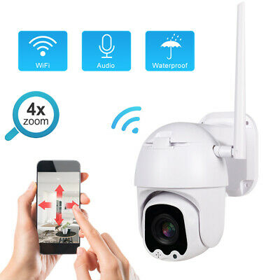 1080P HD Wireless 4X Optical Zoom PTZ Security Camera Outdoor Wifi CCTV Audio