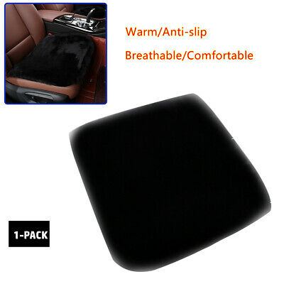 Short Plush Seat Pad Cushion Non Slip Backing for Car Plane Office Home Seat Mat