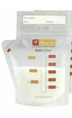 NEW 150 Count Ameda Store N Pour Breast Milk Storage Bags Sealed 17245 FREE SHIP
