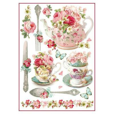 Rice Paper - Decoupage - Stamperia - 1 x A4 Size Sheet - High Tea