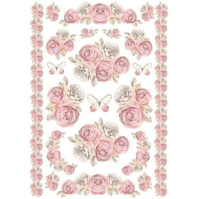 Rice Paper - Decoupage - Stamperia - 1 x A4 Size Sheet - Rose Garland