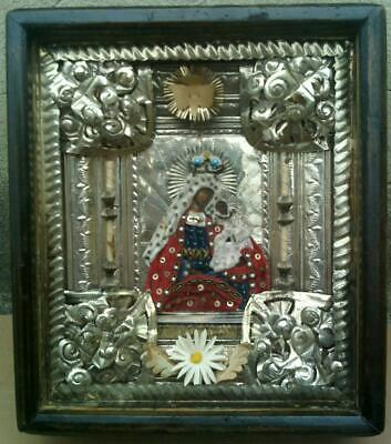 """Antique 19c Russian Orthodox Hand Painted Wood Icon """" From the Trouble of the """""""