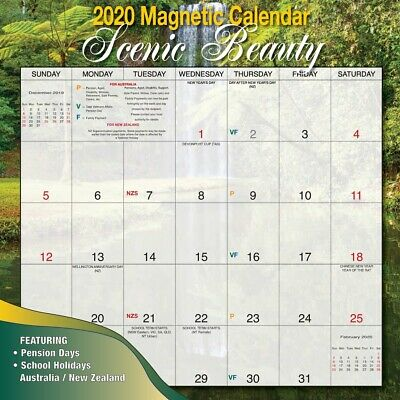 2020 Scenic Beaut Magnetic Wall Calendar by Bartel MC006 FREE POST