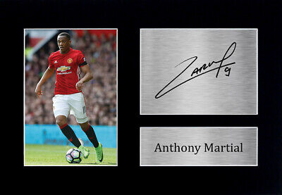 Anthony Martial Signed Pre Printed Autograph Photo Gift For a Man Utd Fan