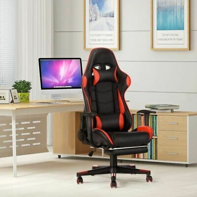 Luxury Recliner Computer Gaming Chair Racing Office Executive Fx Leather Seat UK