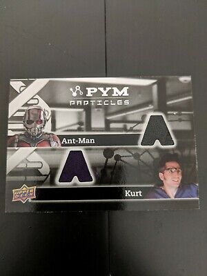 2015 UD Marvel Ant-Man MEMORABILIA PYM Particles Dual antman and kurt