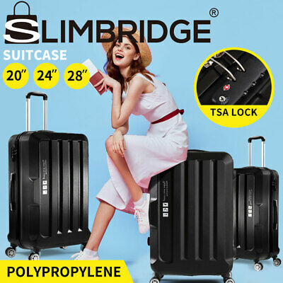 3 Pcs Lightweight Luggage Sets Hard Suitcase Sets TSA Travel Trolley Carry Bag