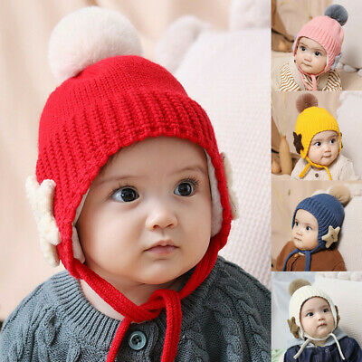 Lovely Baby Toddler Kids Boy Girl Knitted Children's Lovely Soft Hat One Piece