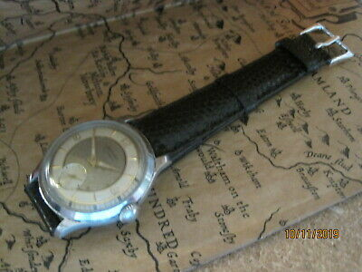 Vintage Deco 1950's JUNGHANS German Chrome Plated Gents Watch (Great Dial)
