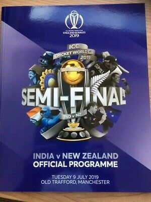 Official Programme Icc Cricket World Cup 2019 Semi Final Ind V Nz