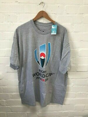 Rugby World Cup 2019 Japan Official Men's T-Shirt - XL - Grey - New