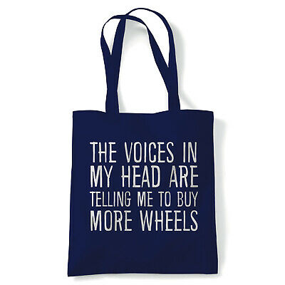 Voices In My Head Buy More Wheels, Tote - Reusable Shopping Canvas Bag Gift