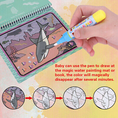 Magic Water Drawing Book Coloring Book Doodle With Magic Pen Painting Board