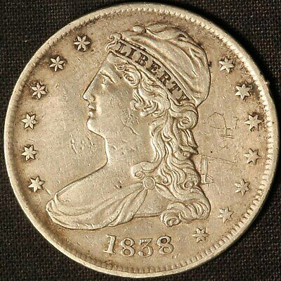 1838 Capped Bust Half Dollar - Free Shipping USA