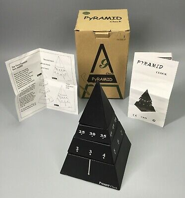 The Time Pyramid Clock - Black 42995