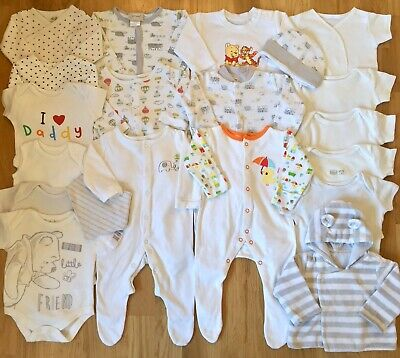 💛Mothercare Etc Unisex Baby Clothes Bundle Newborn-0-3 Months💛