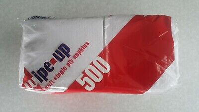 Napkin Tissues 500 pack Single Ply 300mm x 300mm
