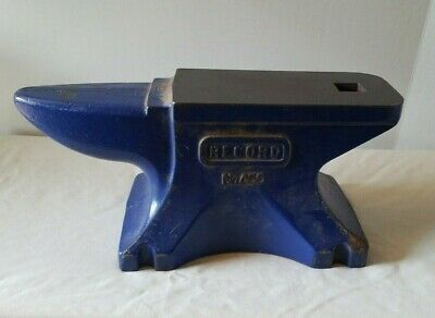 55 Lb. RECORD Blue Cast Iron Extremely Rugged Round Horn Blacksmith Anvil