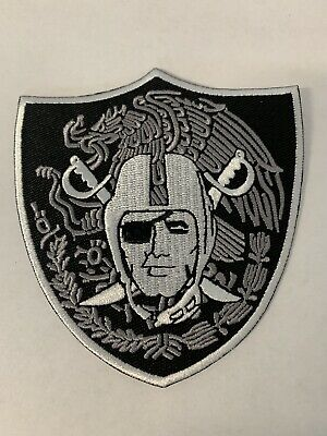 OAKLAND RAIDERS NFL Mexico Shield Raider Nation Football Iron-on PATCH!
