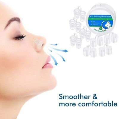Box of Anti Snore Stop Snoring Nose Clip Nasal Aid Sleep Breath Easy Device Uk