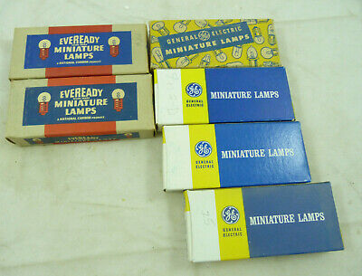 Vintage General Electric GE Eveready Miniature Lamps Light Bulbs NOS