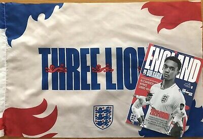 England v Bulgaria Programme and Flag (Euro 2020 Qualifiers) 7th September 2019