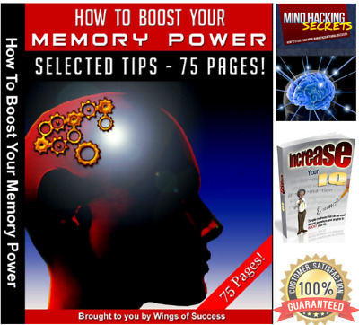 🔥Ebook How To Boost Your Memory Brain Power PDF with Resell Rights Bonus 🔥