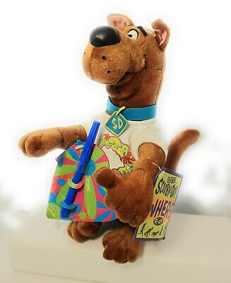"""SCOOBY-DOO """"CONGRATULATIONS"""" PLUSH CHARACTER /& NOTECARD FROM 2000 ~ STILL NEW"""