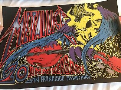 Metallica S&M2 San Francisco Concert Poster Show Edition By Squindo
