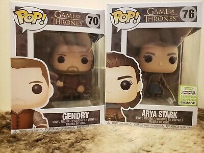 Funko Pop Game Of Thrones 76 Arya Stark ECCC 2019 Exclusive W/ Needle + Gendry