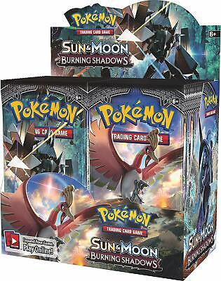 Pokemon TCG Sun & Moon Burning Shadows Booster Box - Plus EXTRA CODE CARD