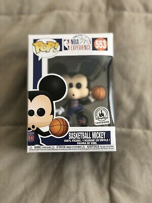 Disney NBA Experience Mickey Mouse Basketball #553 Pop Vinyl Funko In Hand