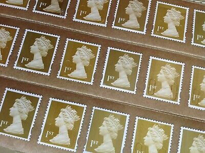 25 X 1St Class Unfranked Stamps Self Adhesive Easy Peel F/V £17.50